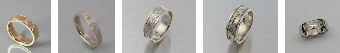 Modern Heirloom Hers Wedding Bands