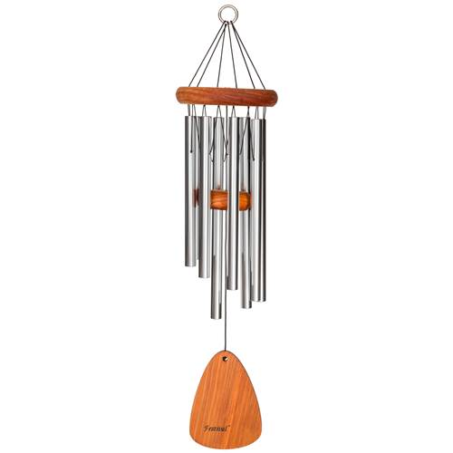 "24"" Festival Wind Chime with 8 tubes Silver"