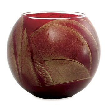 "4"" Cranberry Candle Globe"