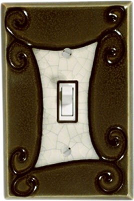 Mocha Scroll Switch Plate - AG105