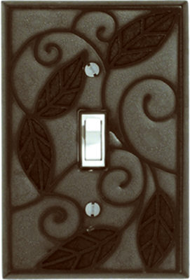 Metallic Leaf Switch Plate - AG205