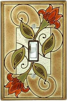 Jacobean Flowers Switch Plate - AG265