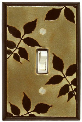 Leaf Silhouette Switch Plate - AG271