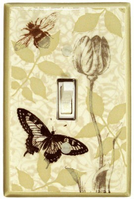 Botanical Insects Switch Plate - FL038