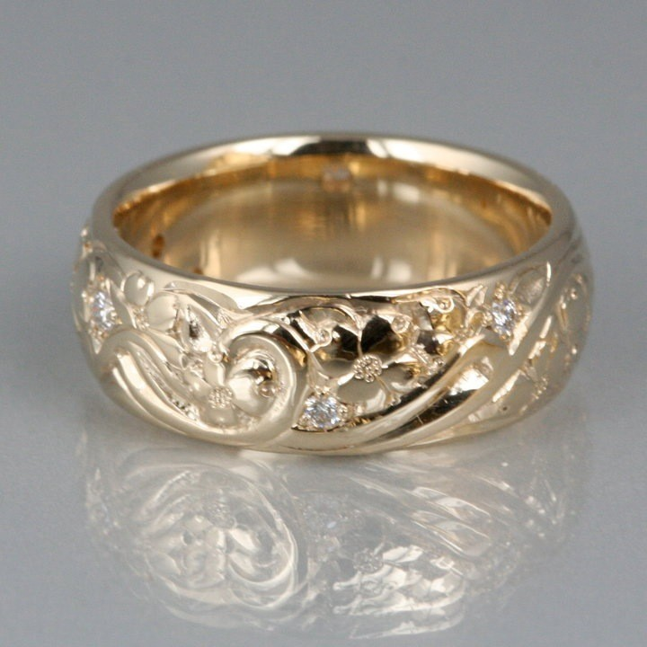 Silver Bonsai Gt Rings Gt Hand Carved Dogwood And Diamond Ring