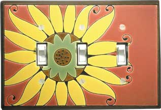 Mexican Sunflower Triple Switch