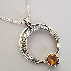 Relic Circle Citrine 6mm Neck