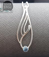 Blue Topaz Seagrass Necklace