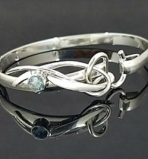 Artist's Choice 6mm Aquamarine Forged Bracelet