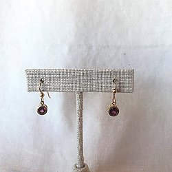 Garnet Filigree Dangle earrings