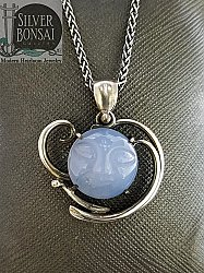 Chalcedony Face Necklace