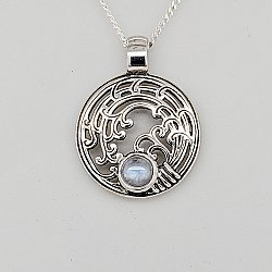 Rice Mon Sterling Silver Pendant