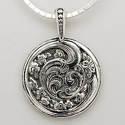 Dogwood and Waves Pendant