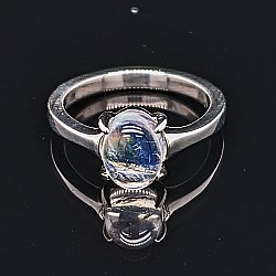 Moonstone 4-Prong Ring