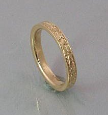 2mm Wheat Leaf Engraved Band