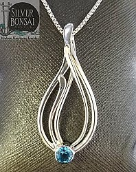 Seagrass Necklace with Blue Topaz