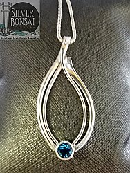 AC Seagrass Necklace with Blue Topaz