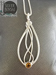 Seagrass Necklace with Citrine