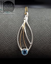 TT 6mm Blue Topaz Seagrass Necklace