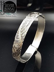 Deep Carved Fern Bracelet 10mm