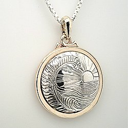 TT Fern and Sea 14k/SS Medallion