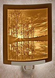 Lakeshore Sunset Curved Night Light