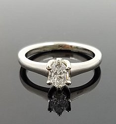 14KW Oval Solitaire Ring