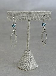 Blue Topaz Seagrass Earrings