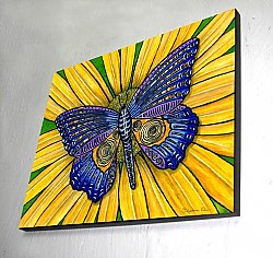 Butterfly on Wood Panel