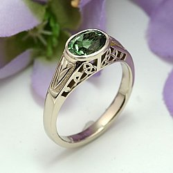 Celtic Garden Gemstone Ring