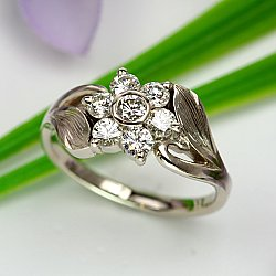 Flower Cluster Diamond Ring