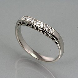 Esther's Garden Contour Band with Diamonds