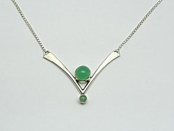 "Chrysoprase ""V"" Necklace"