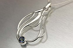 Mystic Topaz Sterling Silver Necklace