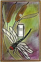 Dragonfly & Bullrush Switch Plate - CO163
