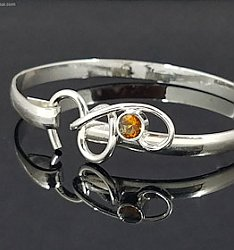 Artist's Choice Citrine Forged Hook Bracelet