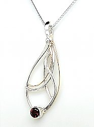 Garnet Seagrass Necklace, Artist Choice Design