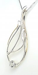 White Topaz Seagrass Necklace, Artist Choice Design