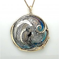 Ocean Waves Medallion 34mm