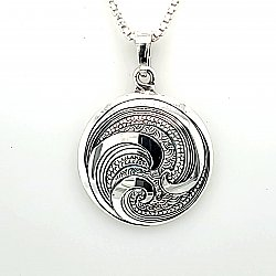 Ocean Medallion 20mm Necklace