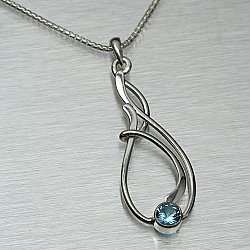 Seagrass Necklace w/ 5mm LB Topaz