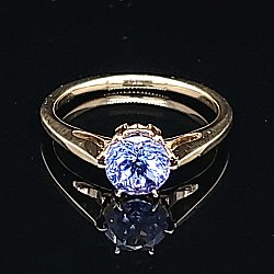 Gothic 6-Prong Tanzanite Solitaire Ring