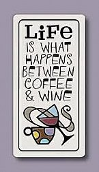 Life between Coffee and Wine Magnet