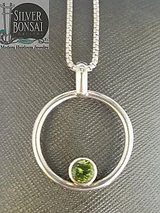 Circle with Peridot Necklace