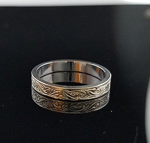 Band Straight Scroll Ring