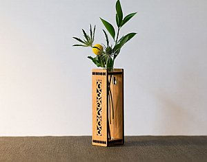 "6"" Bud Vase-Flower Design"