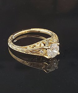 Butterfly Filigree Ring 14KY