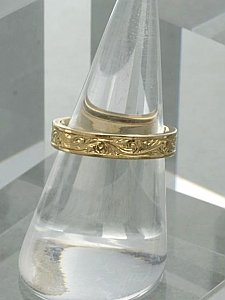 4mm Engraved Scroll Band