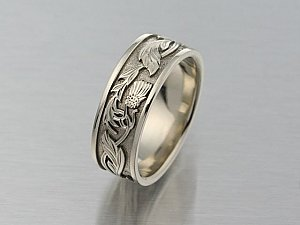 Celtic Thistle Ring