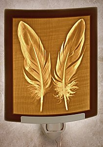 Feathers Curved Nightlight